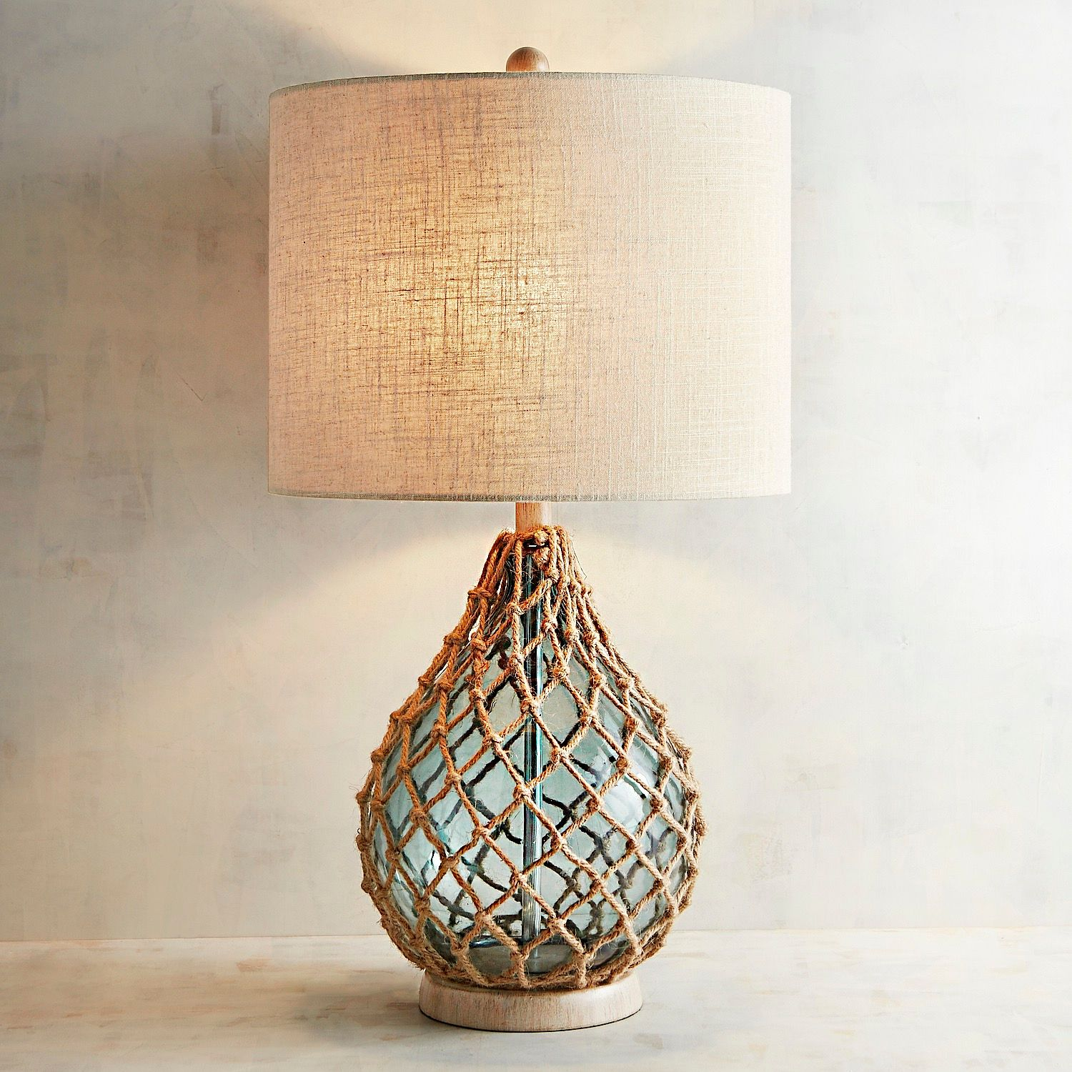 rope sea glass table lamp pier imports one accent lamps that use batteries bunnings outdoor sun lounges pool furniture chinese shades homepop metal fancy bedside tables round and