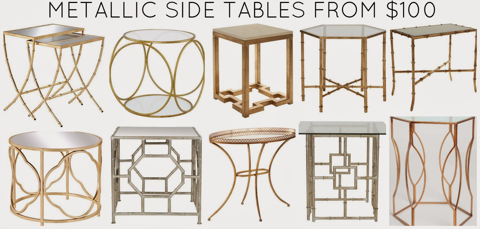 rosa beltran design the gilded age round metallic accent monkey collage gold table just right for one clients and realized after rounding all these beauties that you might want