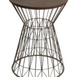 rose gold accent table end coffee and glass privilege home decor side natural tomlin hammered tall with shelves martini furniture contemporary dining chairs black wrought iron 150x150