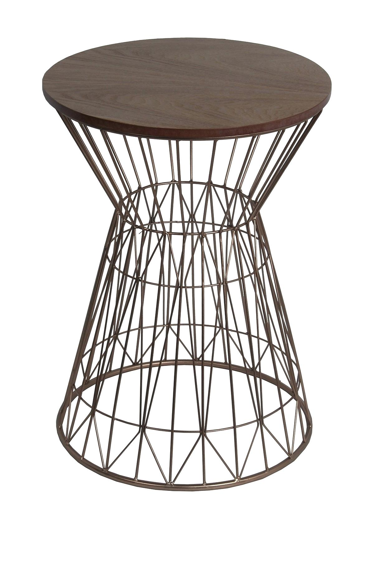 rose gold accent table end coffee and glass privilege home decor side natural tomlin hammered tall with shelves martini furniture contemporary dining chairs black wrought iron