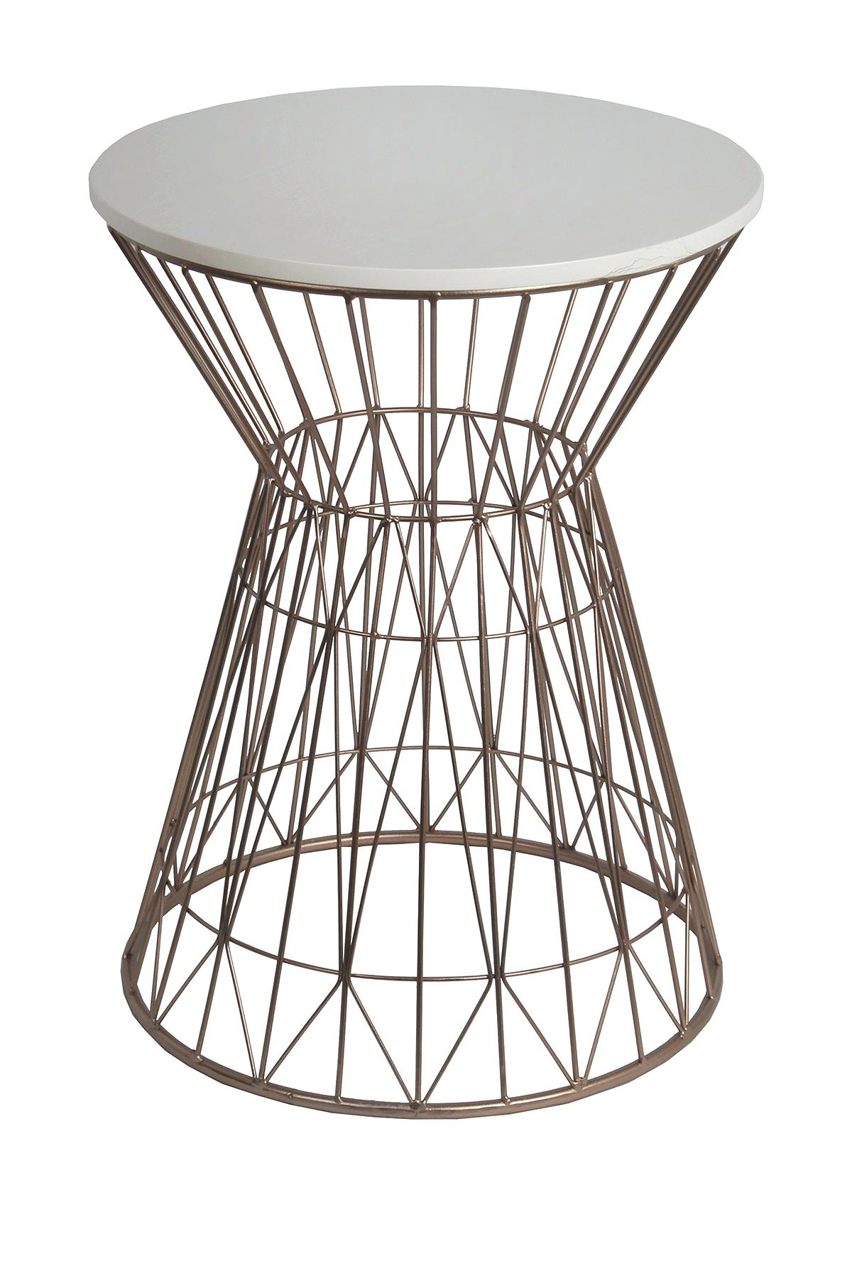 rose gold accent table round end ideas privilege home decor side white tomlin with glass top clear trunk coffee yellow lamp runner rugs ashley furniture chicago cocktail linens