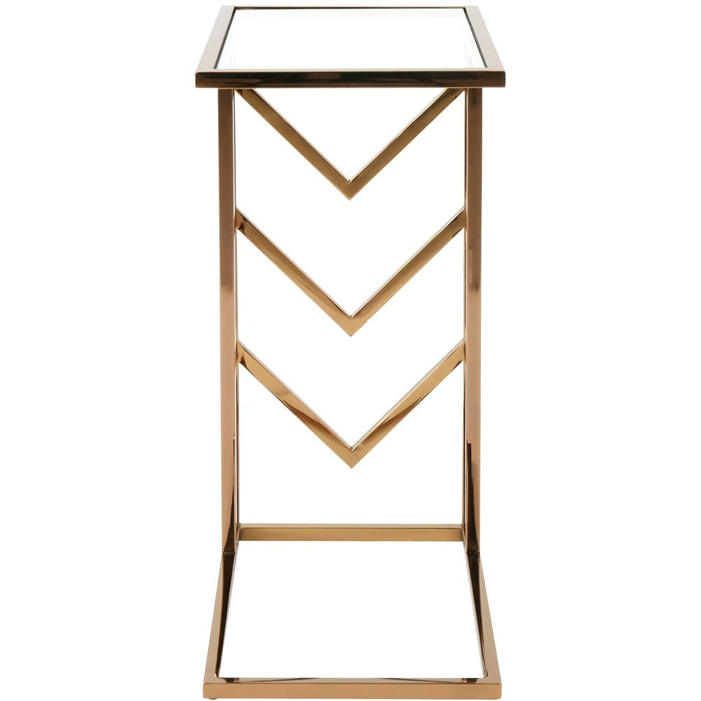 rose gold accent table small side noble house front zoom west elm armoire bedroom ideas kitchen tables for spaces coffee decorative accents pier furniture coupon nesting dining