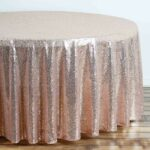 rose gold blush premium sequin round tablecloth tablecloths tab for inch accent table fall runner patterns tall nightstand small chest drawers ottawa kmart desk lamp pier one 150x150