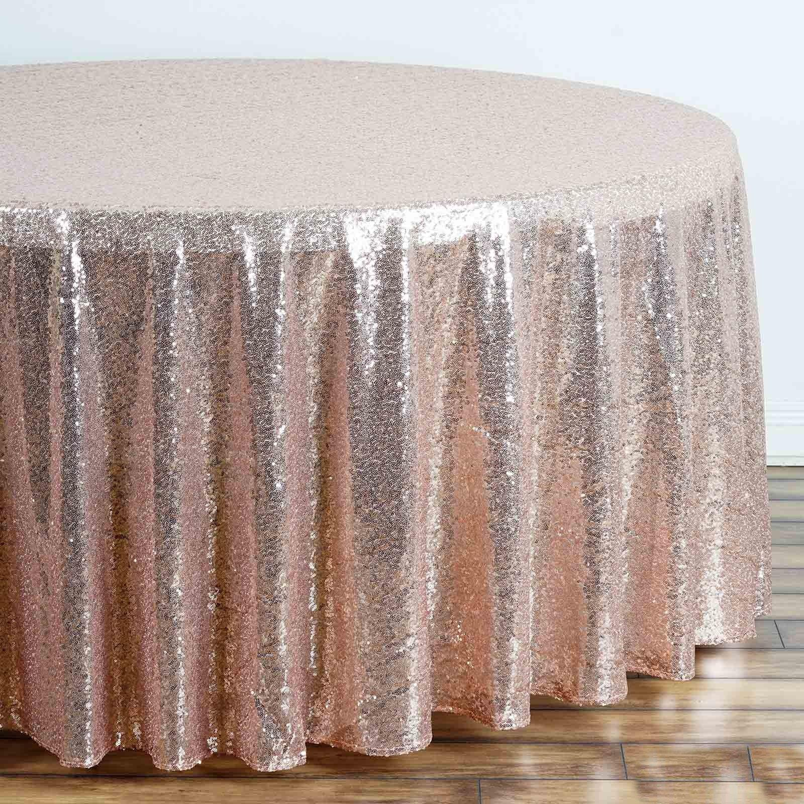 rose gold blush premium sequin round tablecloth tablecloths tab for inch accent table fall runner patterns tall nightstand small chest drawers ottawa kmart desk lamp pier one