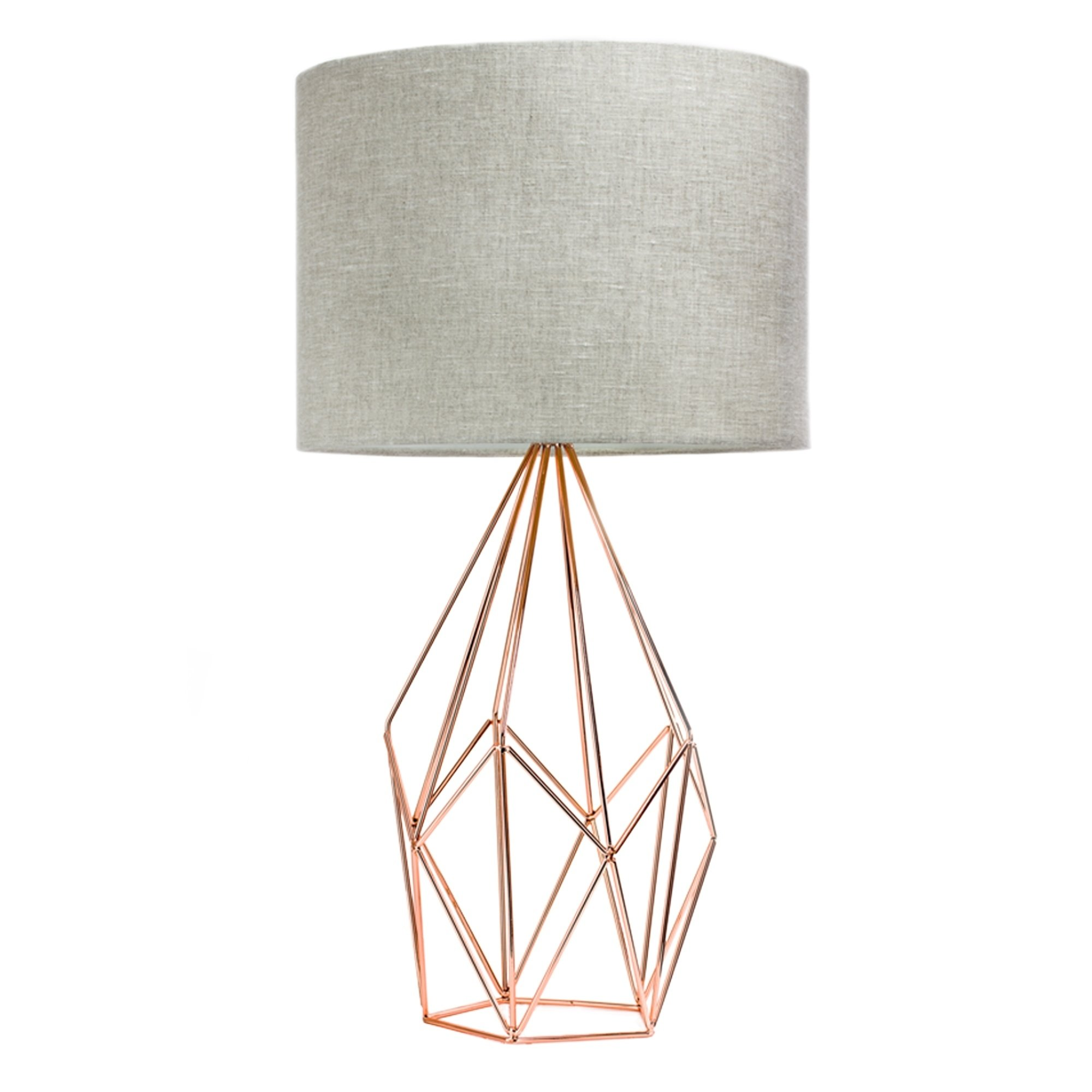 rose gold geometric metal cage table lamp with drum shade accent free shipping today affordable beds outdoor cushions teal placemats and napkins small round pedestal end pretty