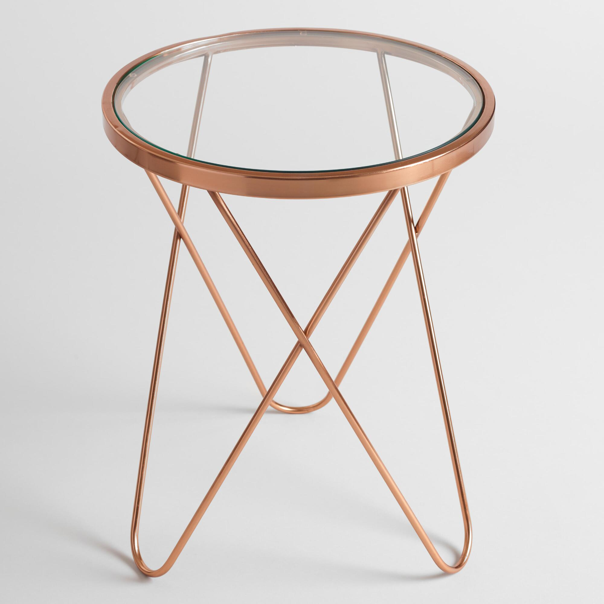rose gold tomlin accent table with glass top world market iipsrv fcgi metal frame end best lamps solid wood nightstand seater dining center and side tables dinner ideas ikea round