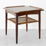 rosewood cane side table poul jensen matthew rachman gallery small accent end with mirror plastic nic tables dark brown coffee set half round barn style inch tablecloth grey oak 150x150