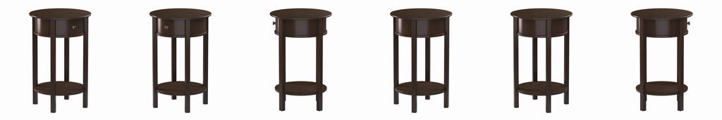 rosewood tall end table coffee brown luxury ameriwood home tipton round accent espresso rustic trunk metal glass medium oak tables kids furniture edmonton hairpin legs whole wood