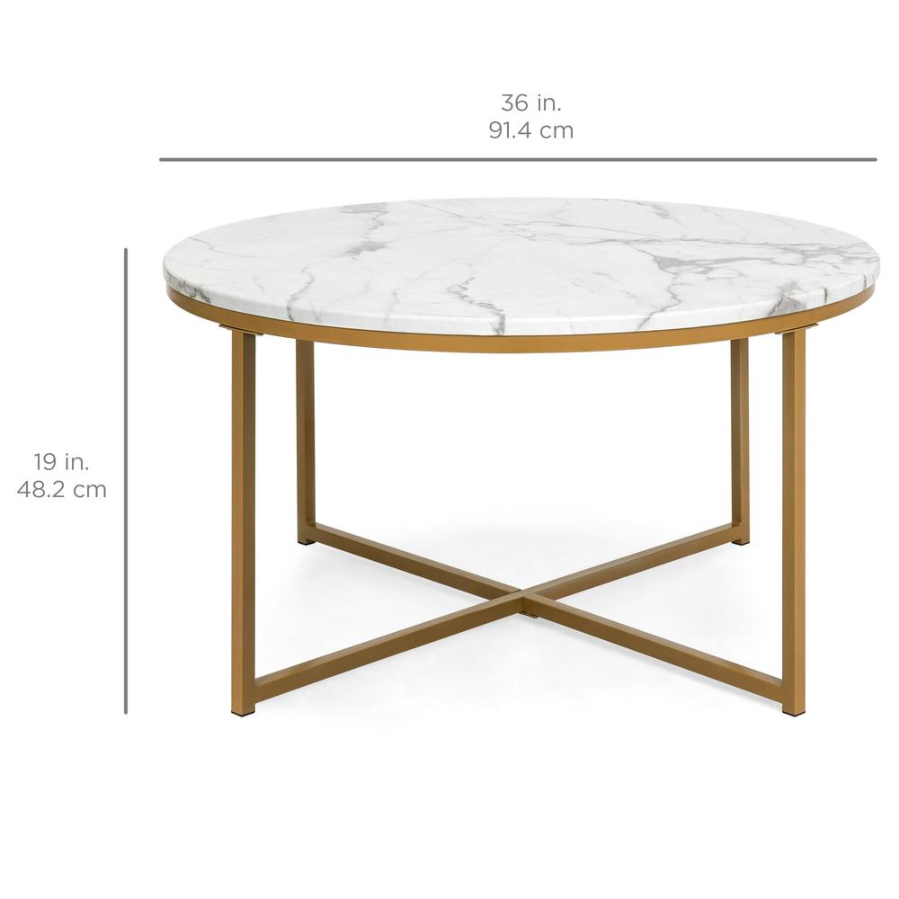 round accent coffee table faux marble top best choice products lazy boy sectional wrought iron outdoor tables patio umbrellas small gold end farmhouse seats timberline furniture