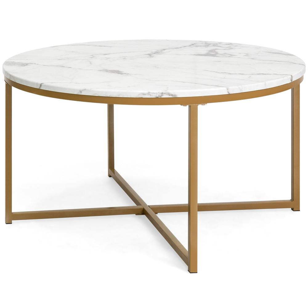 round accent coffee table faux marble top best choice products timberline furniture side with light attached outdoor cooler stand all storage cabinets and chests wrought iron