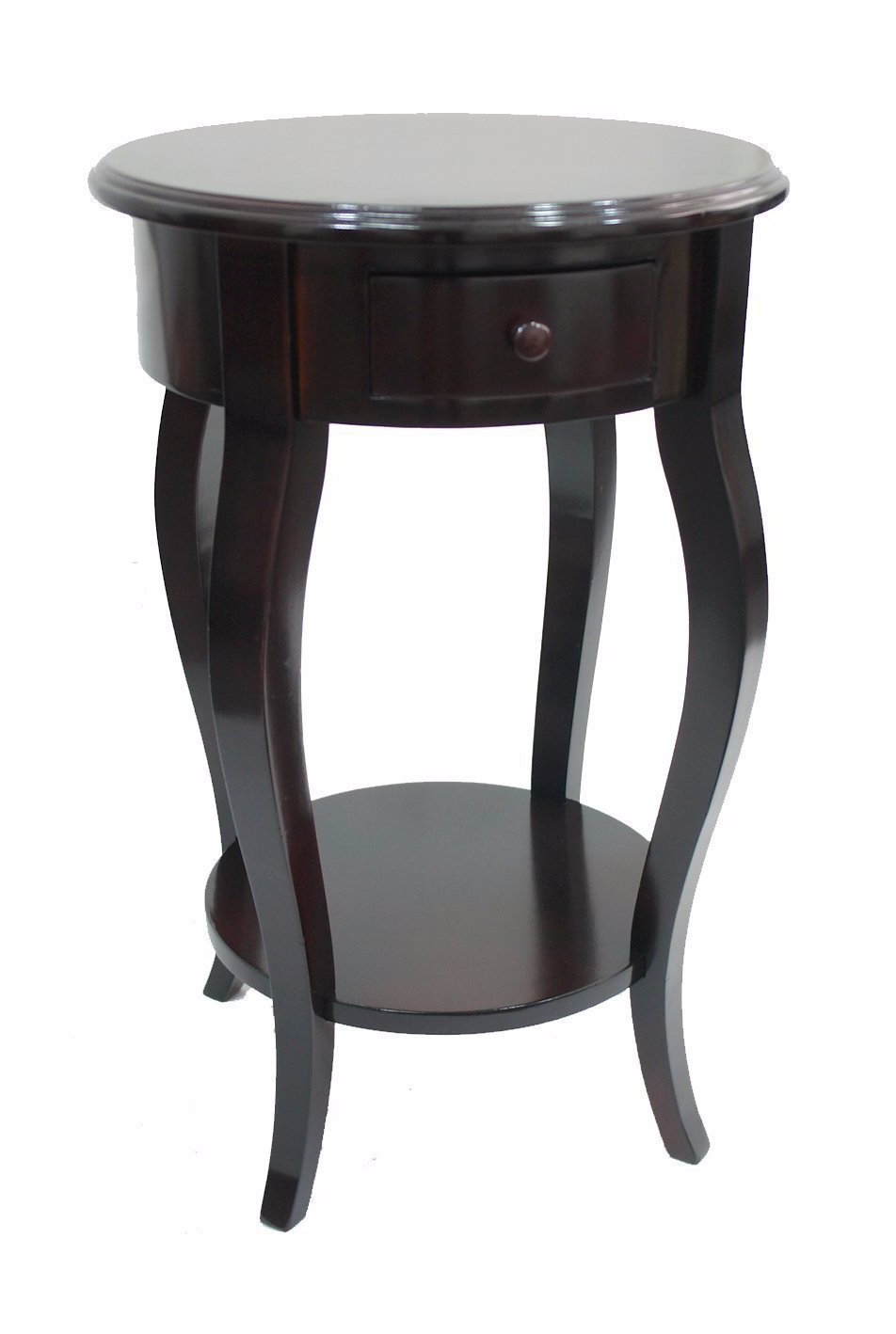 round accent side table dark brown urbanest keffl drawer outdoor lounge furniture gray nesting tables oversized armchair painted bedside cabinet tall acrylic end green pulaski