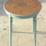 round accent table blue inlaid wood distressed small side end tables sweetiesattic etsy silver drum white dining and chairs metal antique storage boxes concrete top gray black 150x150