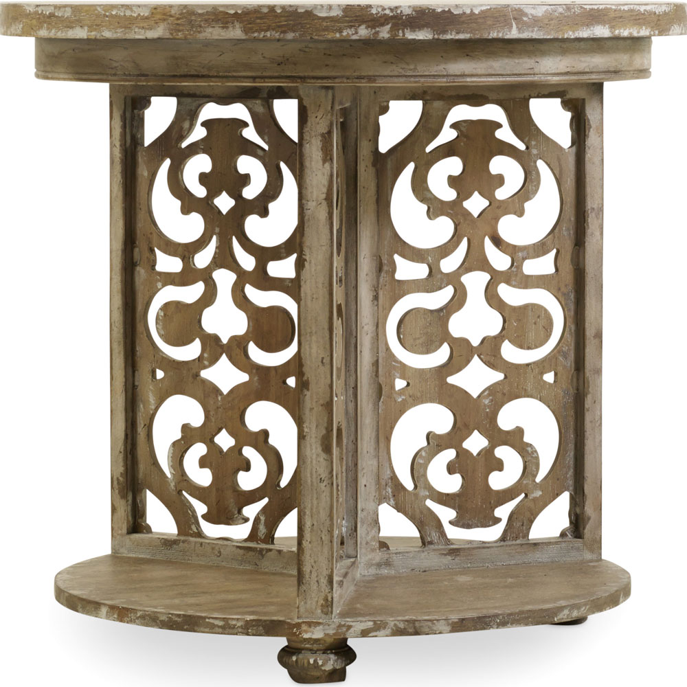 round accent table carolina rustica legs tablecloth grey mosaic side globe lamp lack shelf meyda tiffany dragonfly live edge walnut maple furniture counter height comfortable