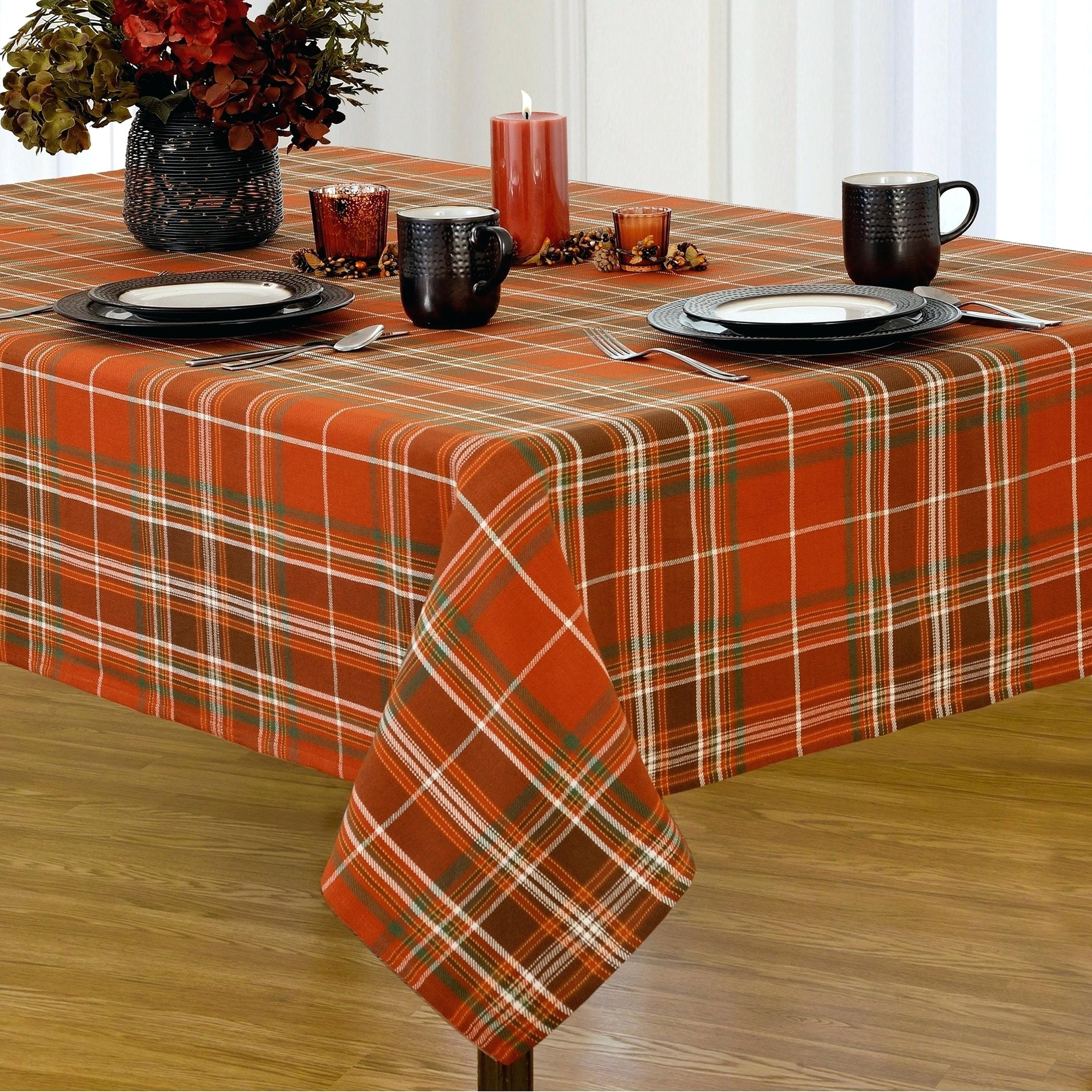 round accent table covers inch decorative plaid fabric harvest cotton woven tablecloth for small side and tables marble chairs tall skinny nightstand outdoor patio lights dining