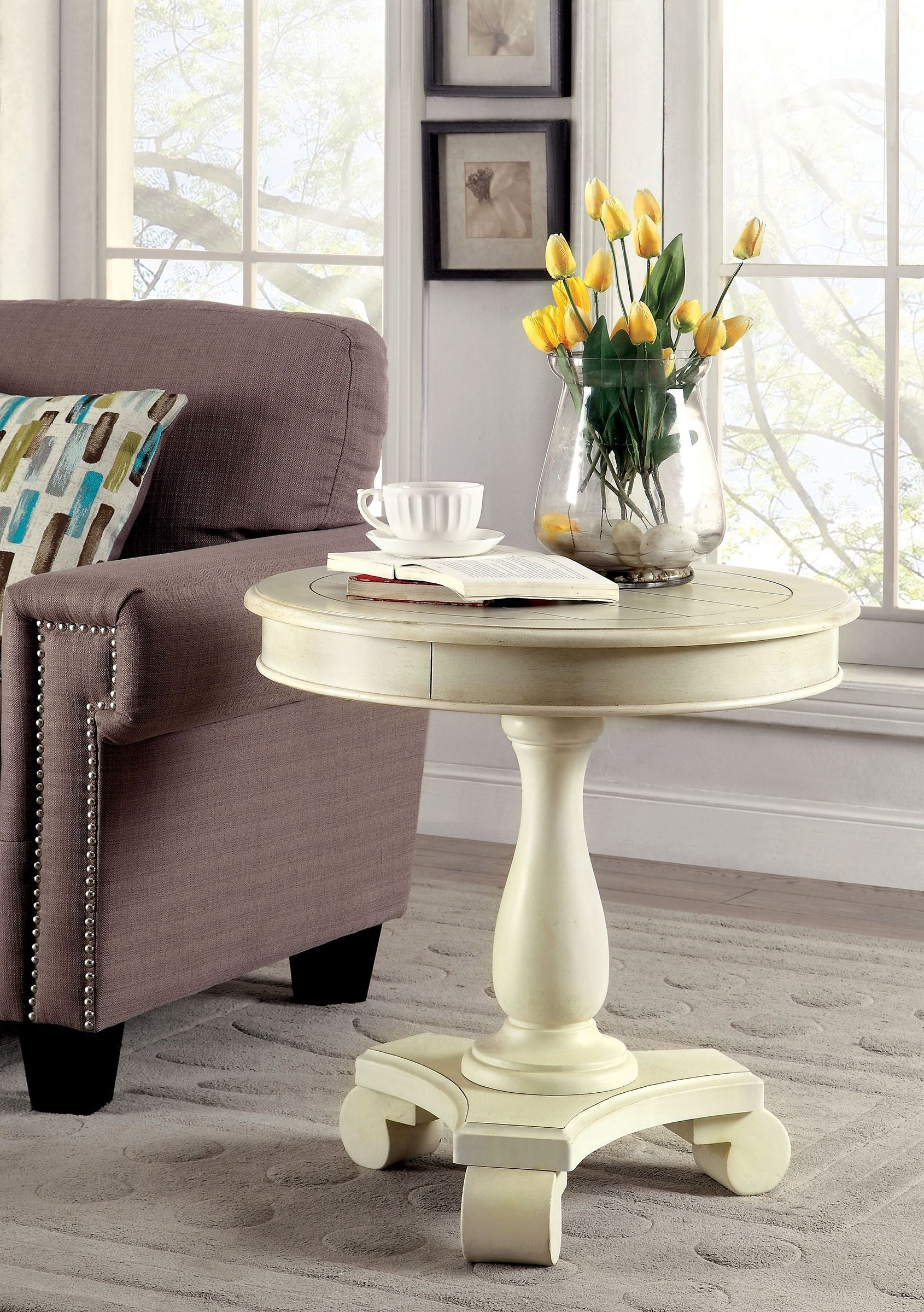 round accent table tablecloth storage chest bunnings swing set sitting chairs for living room wedge side pottery barn rustic coffee antique stands better homes and gardens patio
