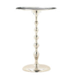 round accent table turned spindle stand dining high polish hammered white top patio winter furniture covers box ikea small decorative tables inch legs glass with umbrella hole 150x150