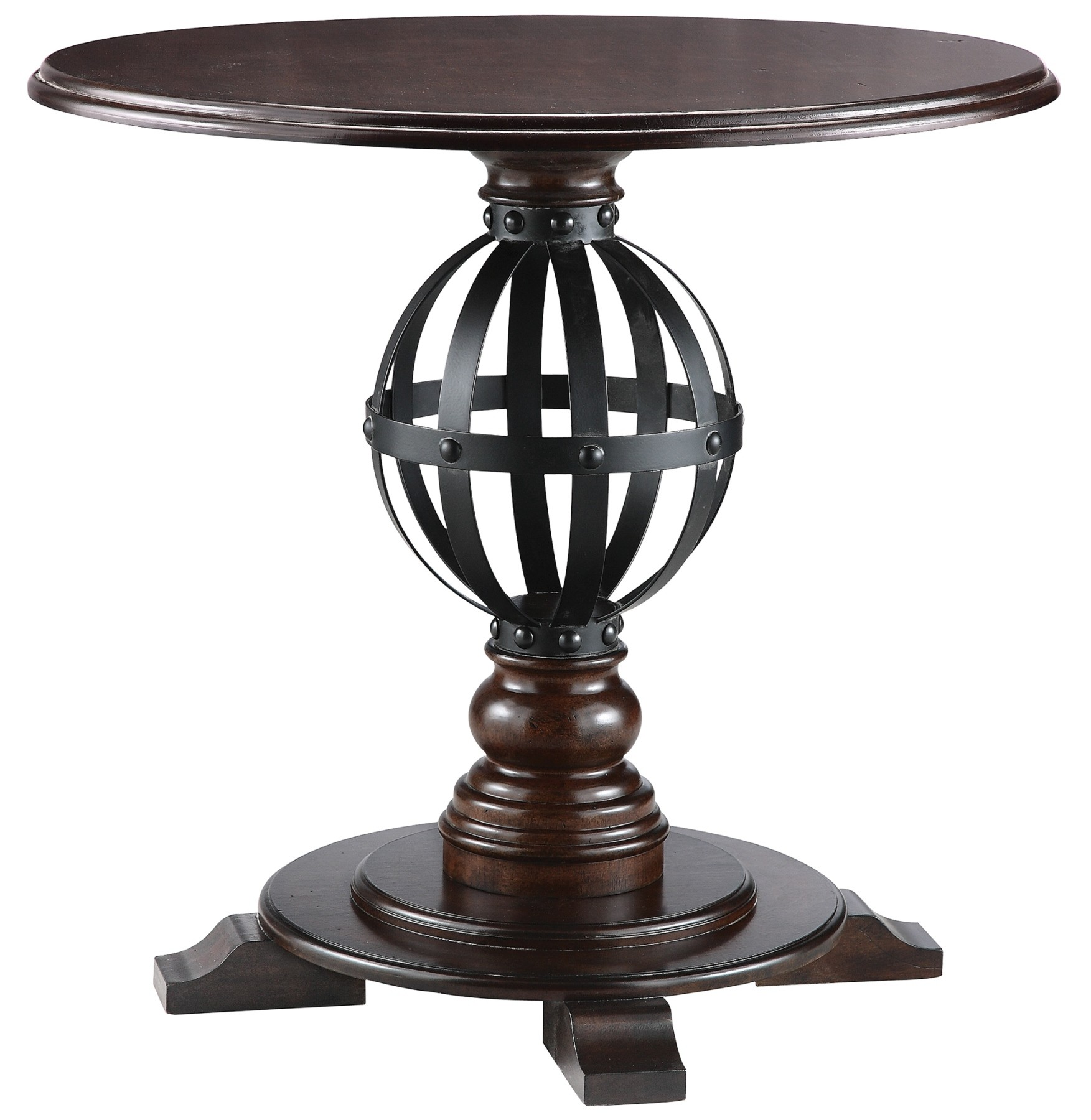 round accent table with metal sphere stein world iron glynn teal kitchen decor traditional dining room furniture bedside west elm interior ideas outdoor recliner chest high coffee