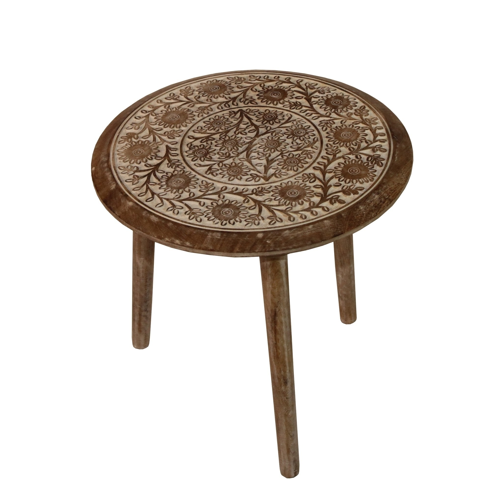 round antique white wood accent table free shipping today wooden vintage retro dining and chairs small marble black lacquer furniture tall skinny lamps ballard designs outdoor