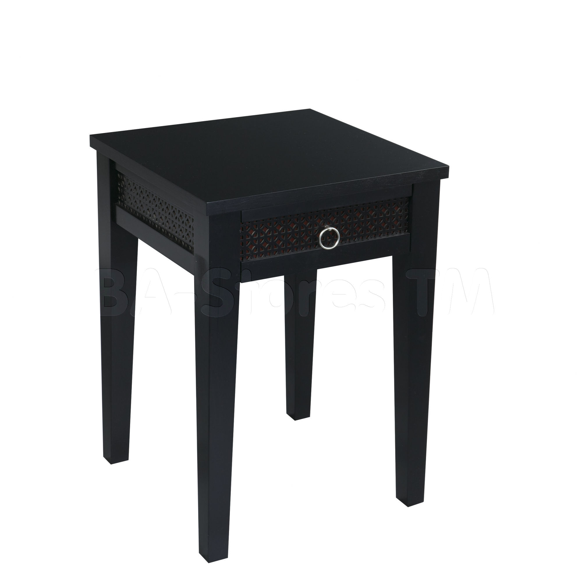round black wooden side table curvy legs having furniture square with drawers four mini small tables chic design complete your decoration drawer dog kennel outdoor garden sets