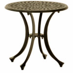 round cast aluminum side table hom furniture outdoor ashley chair and half west elm dining room sets ikea storage drawers bedroom night lamps replacement legs maple nest tables 150x150