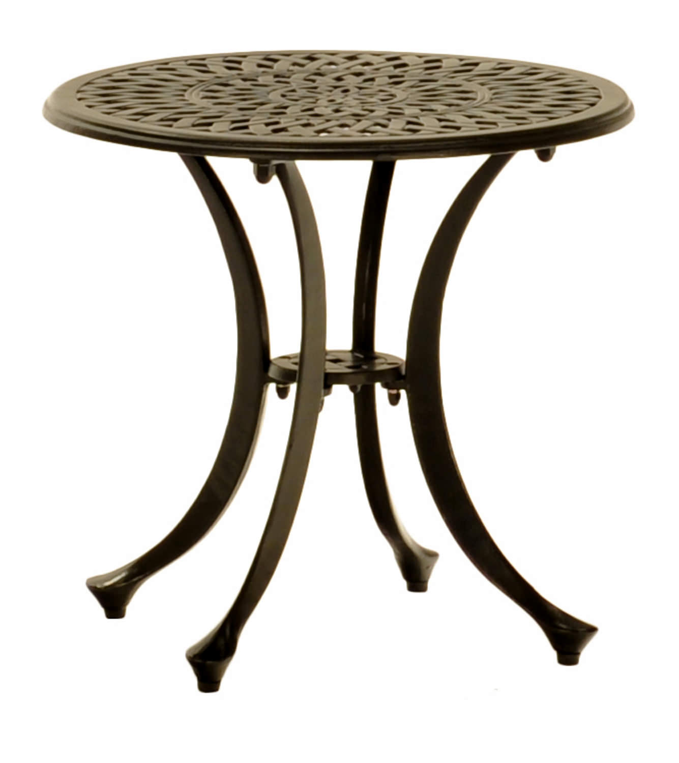 round cast aluminum side table hom furniture outdoor ashley chair and half west elm dining room sets ikea storage drawers bedroom night lamps replacement legs maple nest tables