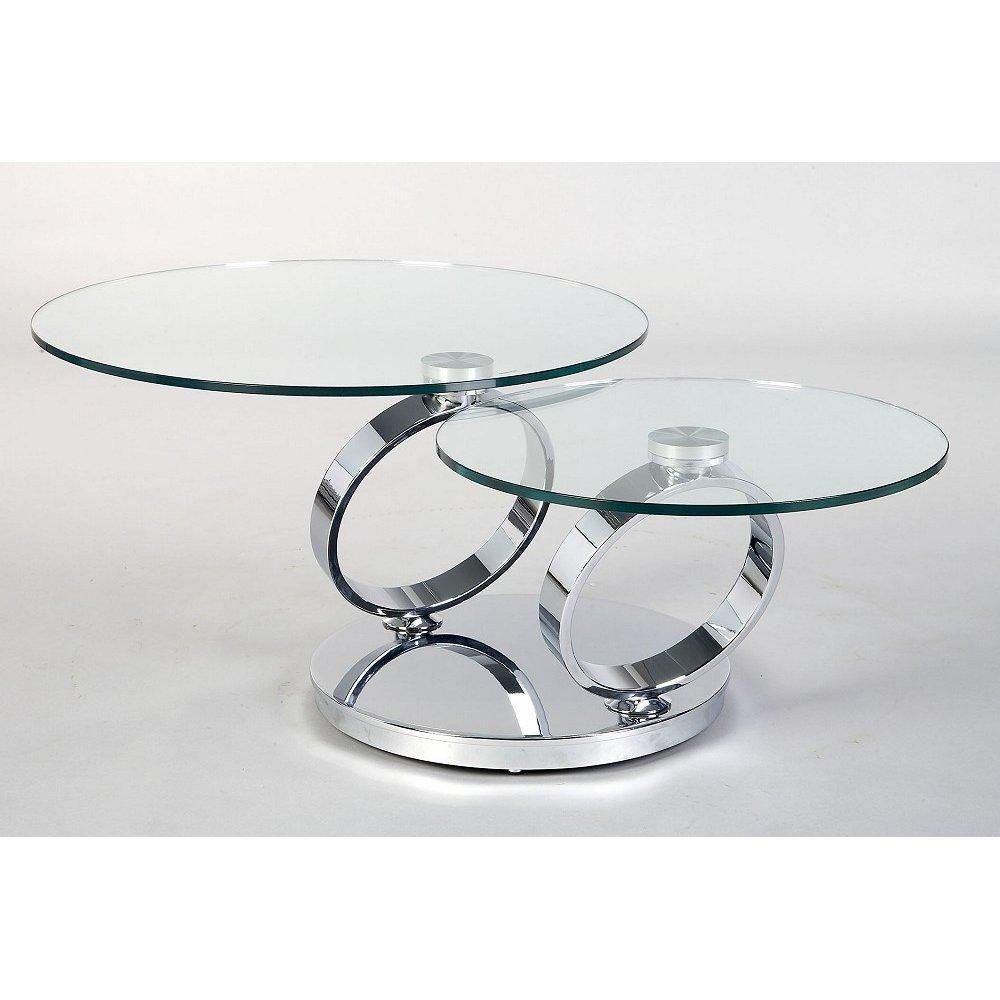 round circles tier chrome metal and glass accent tables with transparent table top legs base living room furniture livin smlf source gray side wood edmonton west elm outdoor