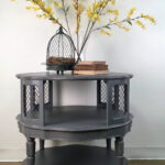 round driftwood accent table general finishes design center scd gray erin the shabby chicas side milk paint high performance topcoat threshold fretwork grey mosaic furniture 150x150