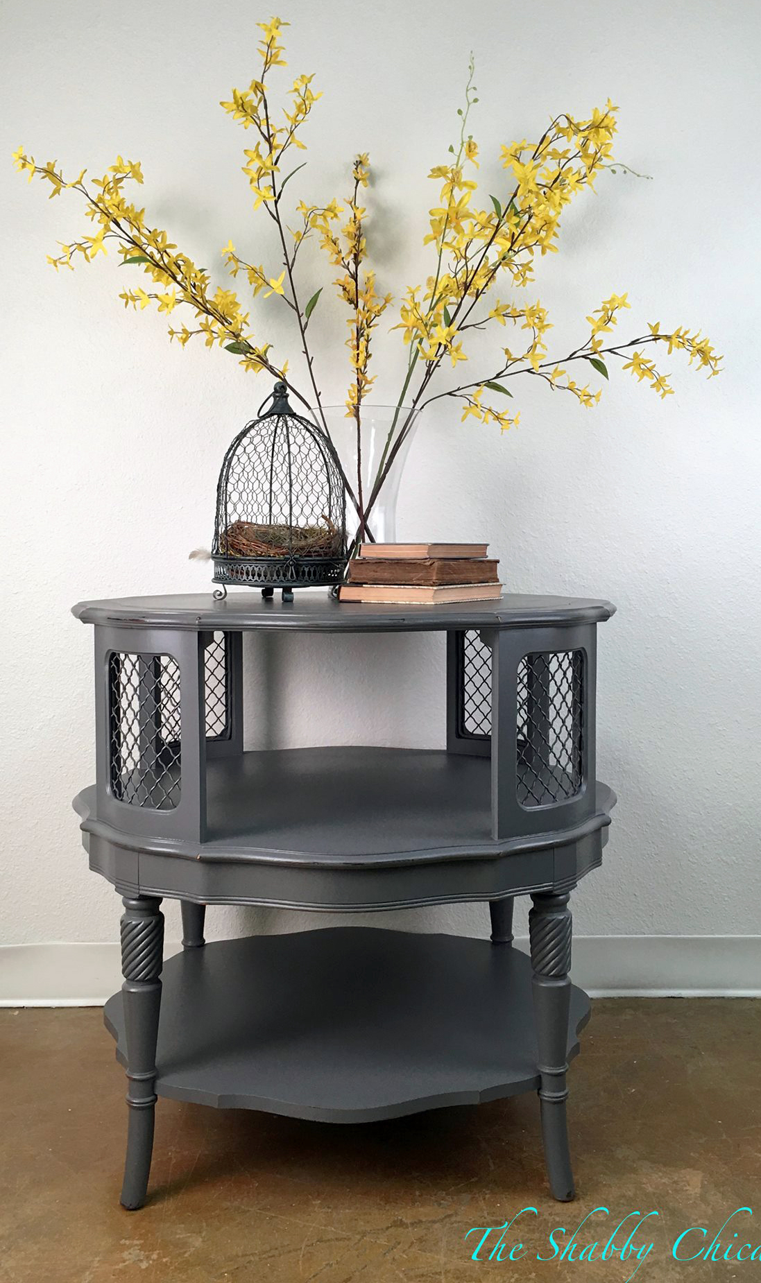 round driftwood accent table general finishes design center scd gray erin the shabby chicas side milk paint high performance topcoat threshold fretwork grey mosaic furniture