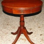 round drum end table drawer lion pull claw feet popscreen antique pedestal accent contemporary lamps for living room pottery barn storage coffee lift top ikea stacking tables west 150x150