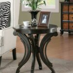 round end table with animal print alexander kat furniture zebra accent top scrolled base black counter height home goods kitchen inexpensive sofa tables storage cube coffee 150x150