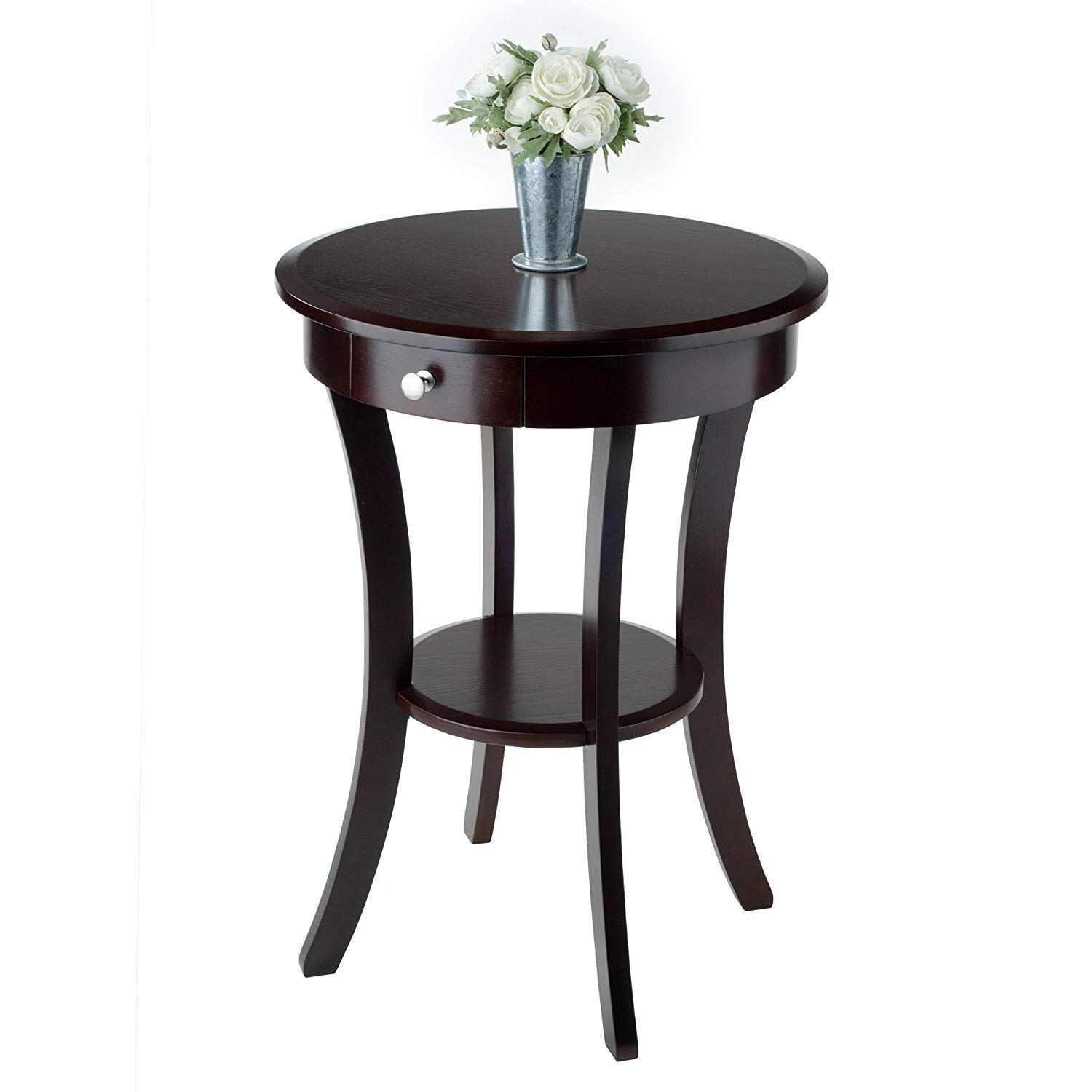 round end table with drawer find small oval accent get quotations for places cappuccino premium wood night stand modern white coffee dark console mirage mirrored cabinet narrow