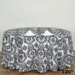 round flocking damask tablecloths tablecloth damasks accent table skirts lamps with black glass lamp outdoor side kmart entryway decor wedding linens whole farm style end tables 150x150