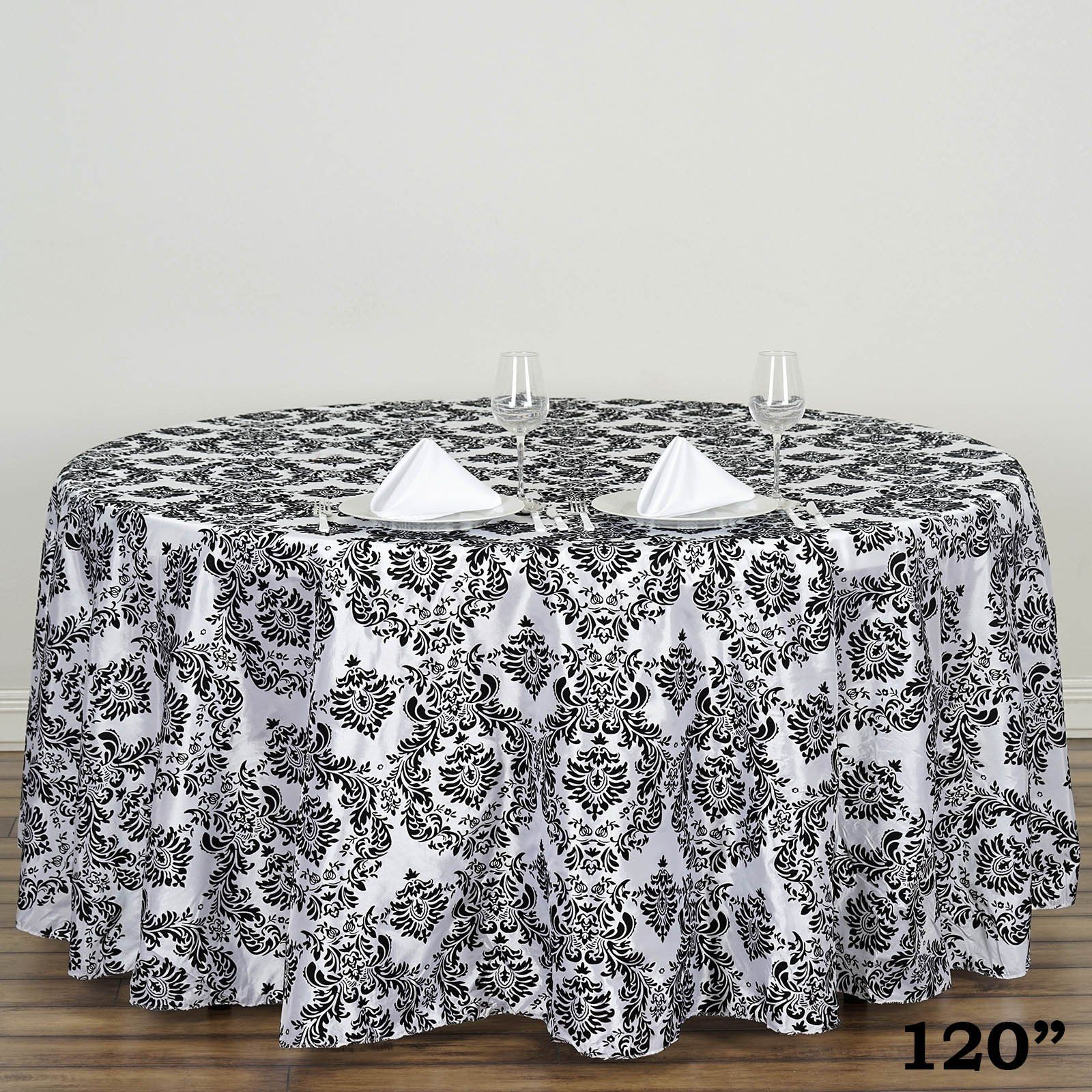 round flocking damask tablecloths tablecloth damasks accent table skirts lamps with black glass lamp outdoor side kmart entryway decor wedding linens whole farm style end tables