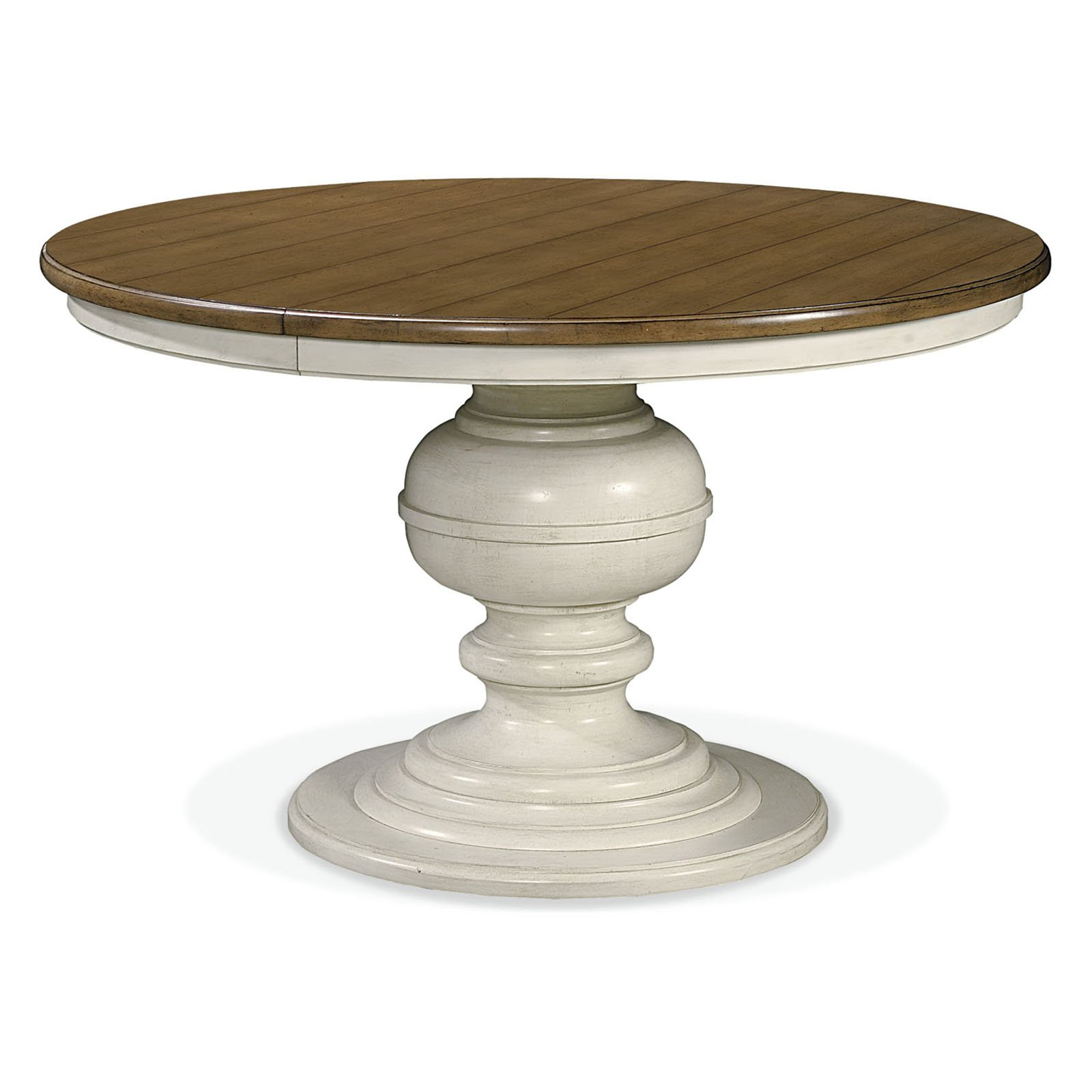 round foyer table wood with stylish traditional hall furniture pedestal charming white painting and brown top design awesome type several materials accent for fossil stone