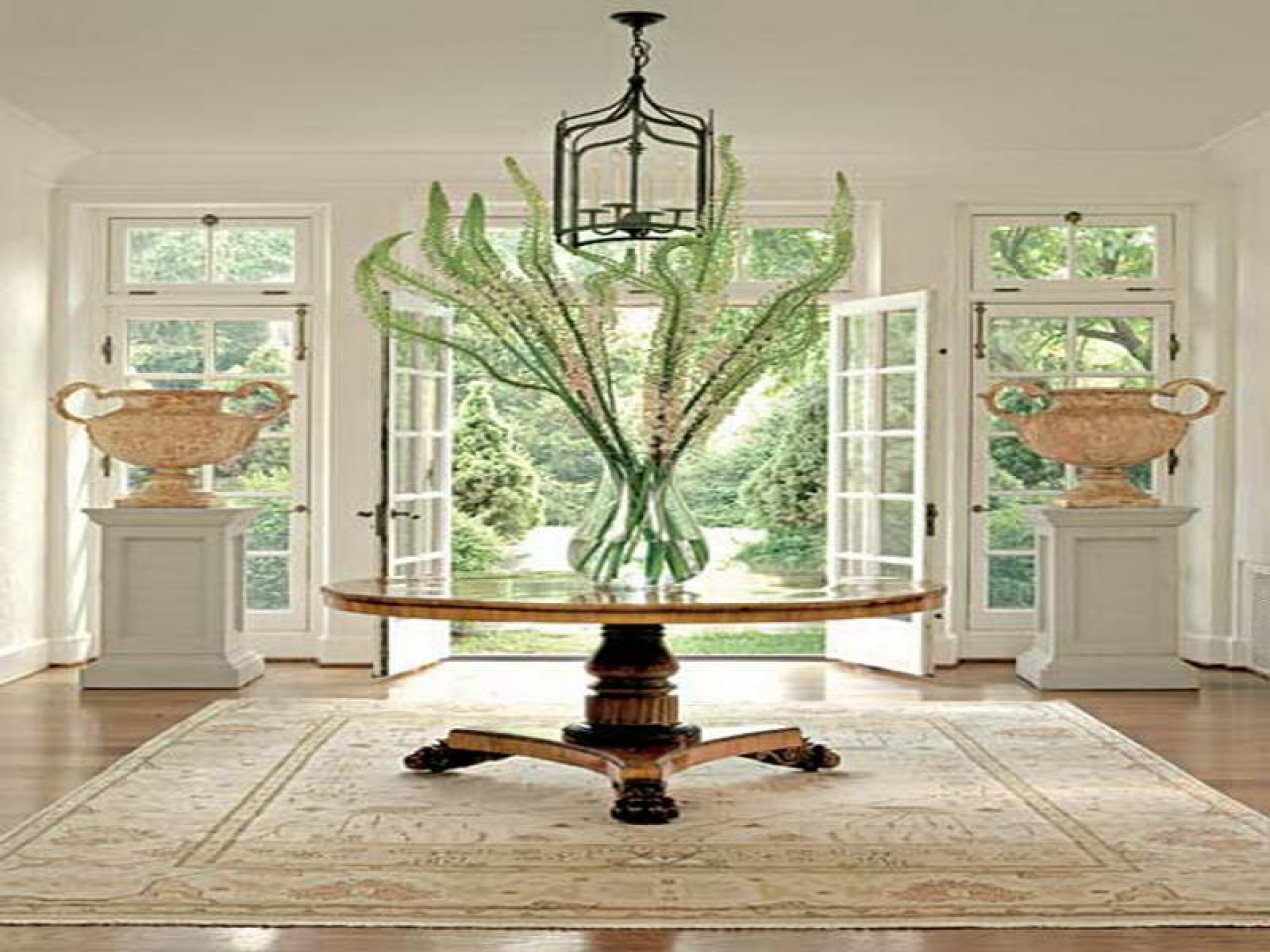 round foyer table wood with stylish traditional hall furniture tables beautiful large design awesome type and several materials accent fossil stone sunburst top carved white drum
