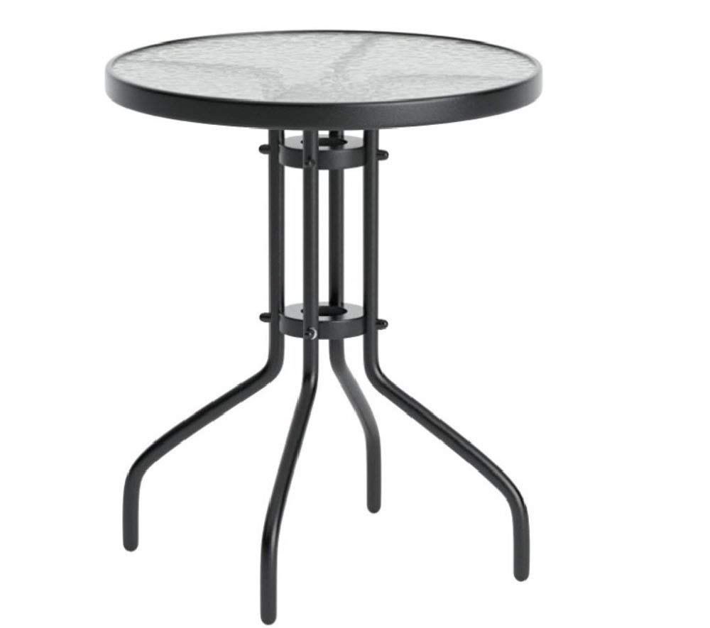 round glass accent table find small get quotations patio furniture side end tables top pool deck metal decor indoor tile floor threshold hairpin black and white throw rug ashley