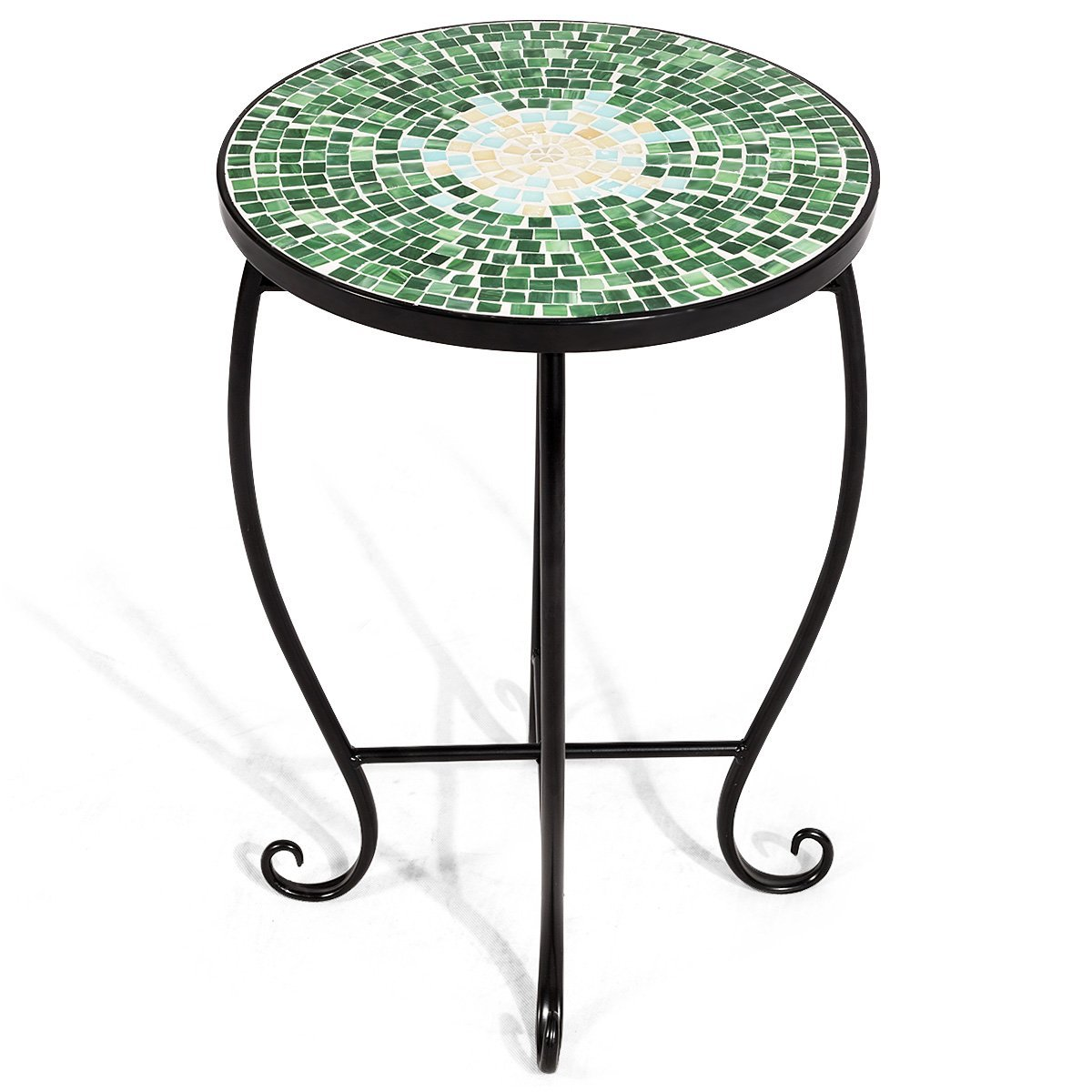 round glass accent table find top get quotations giantex mosaic side patio plant stand porch beach theme balcony back deck pool knobs wooden lamp modern buffet outdoor target