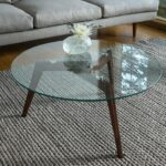 round glass coffee table walnut wood article clarus modern antique gold faceted accent with top and entryway storage baskets outdoor set queen futon cover solid hardwood end 150x150