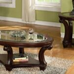 round glass coffee tables modern furniture america carnes dark cherry piece accent table set long cabinet rustic wood and metal mosaic patio rod iron end chairs target corner 150x150