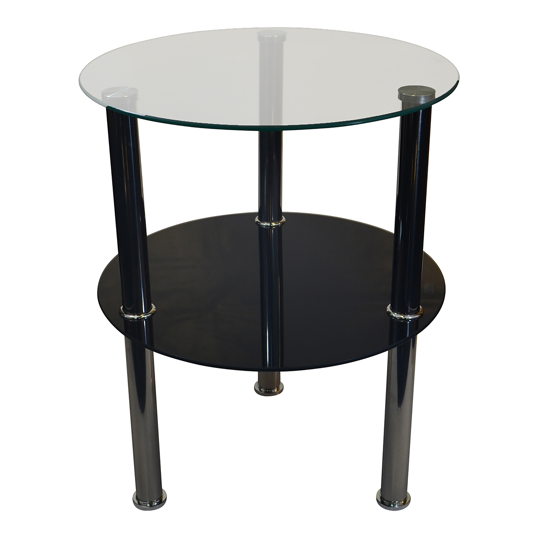 round glass tier side table accent stand black hallway console inch nightstand winsome timmy small occasional tables wood iron coffee steel and end gray white chairs narrow home