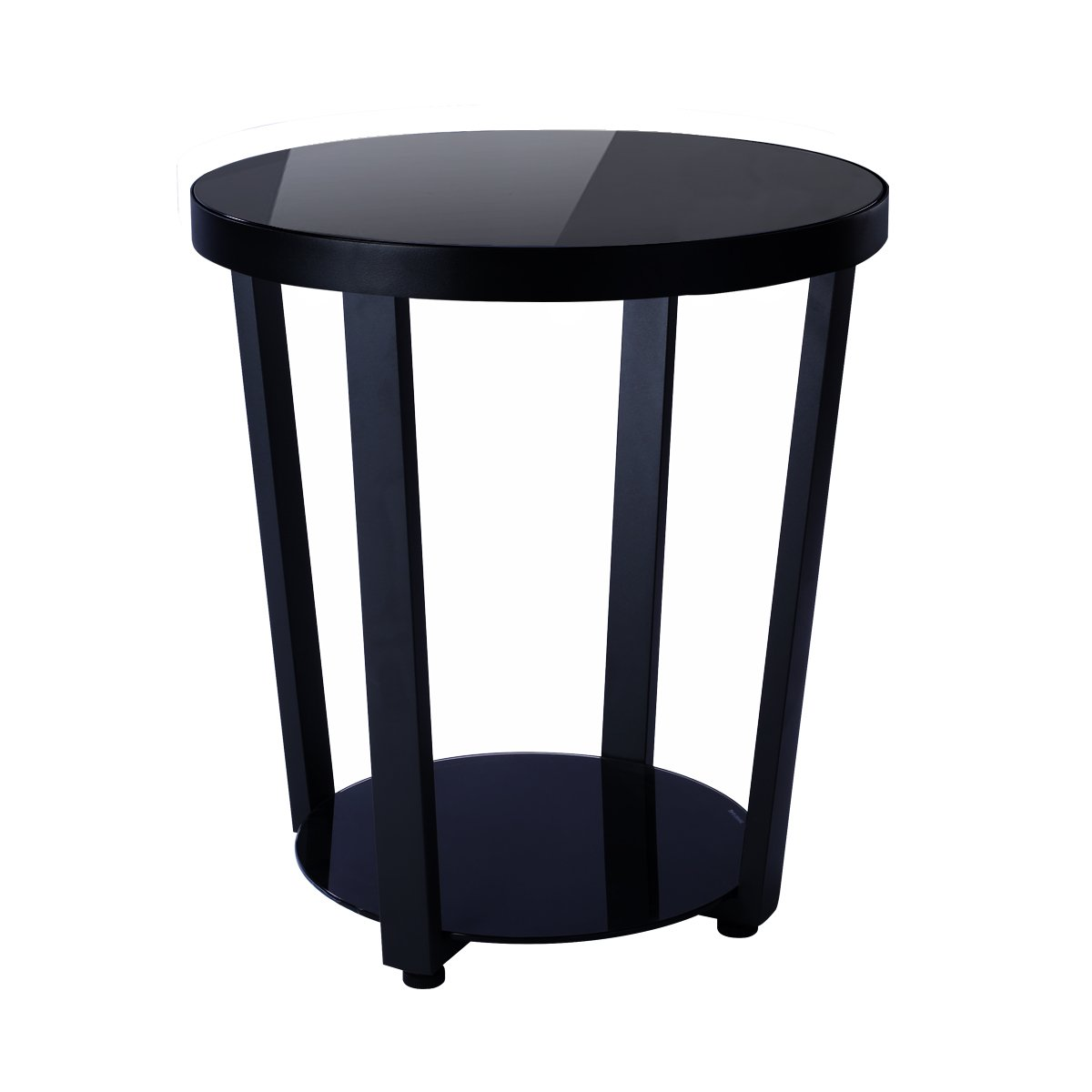round glass top end table living room side winsome wood cassie accent with cappuccino finish coffee black kitchen dining pier one outdoor wicker furniture oval farmhouse skirting