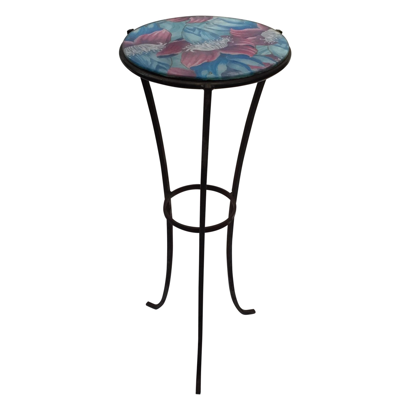 round glass top metal accent table chairish foyer console oval wood end tablecloth for pedestal base oak nest tables dale tiffany hummingbird lamp beach furniture with light