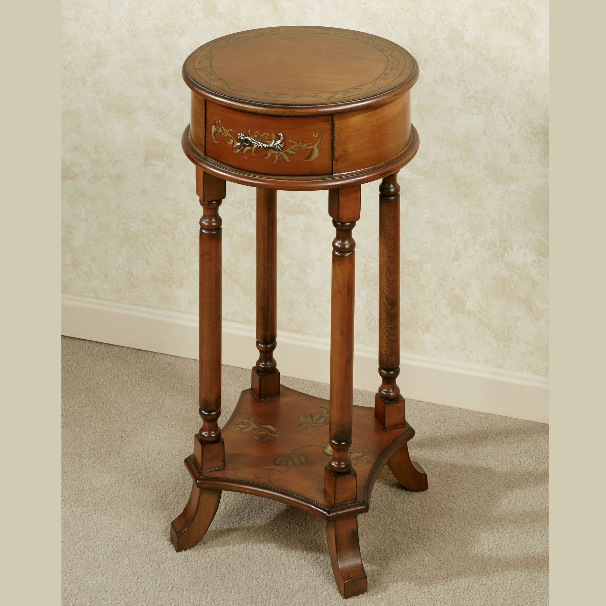 round gold accent table the fantastic cool small cherry wood end trellis tables regal walnut touch zoom complete living room furniture packages ethan allen british classics