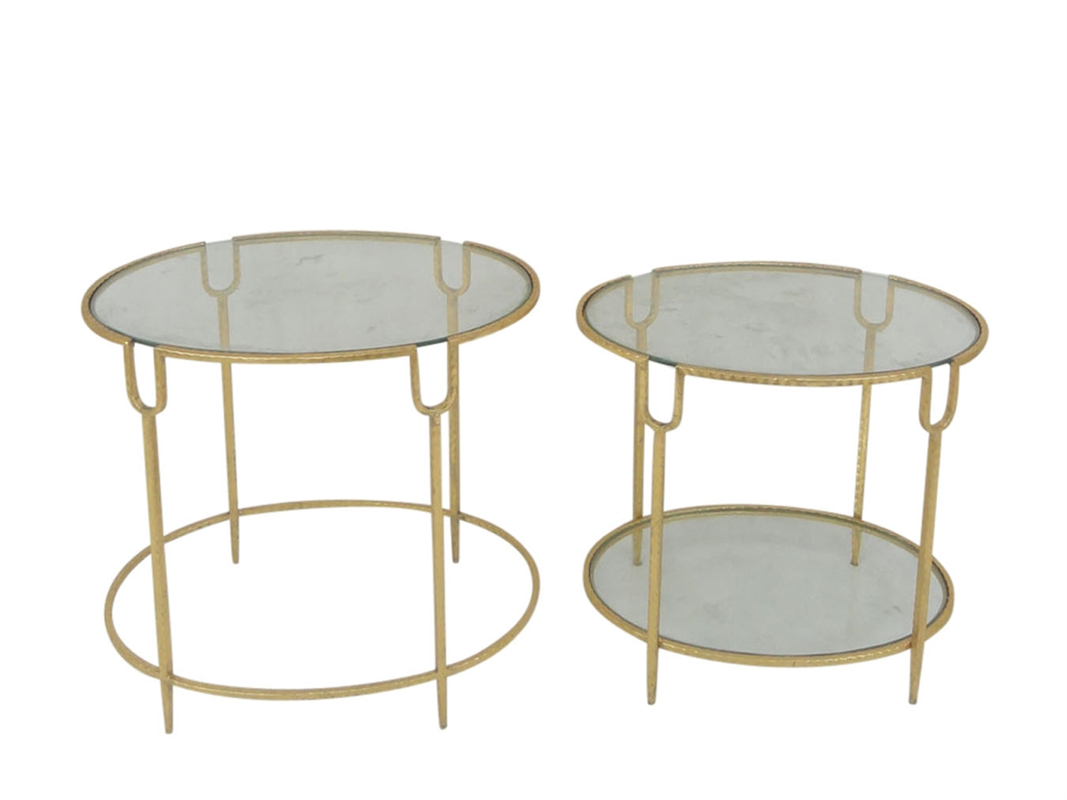 round gold accent tables glass top sagebrook home table small entryway cabinet retro bedroom furniture metal storage iron coffee legs slim bedside wicker ashley chicago lounge