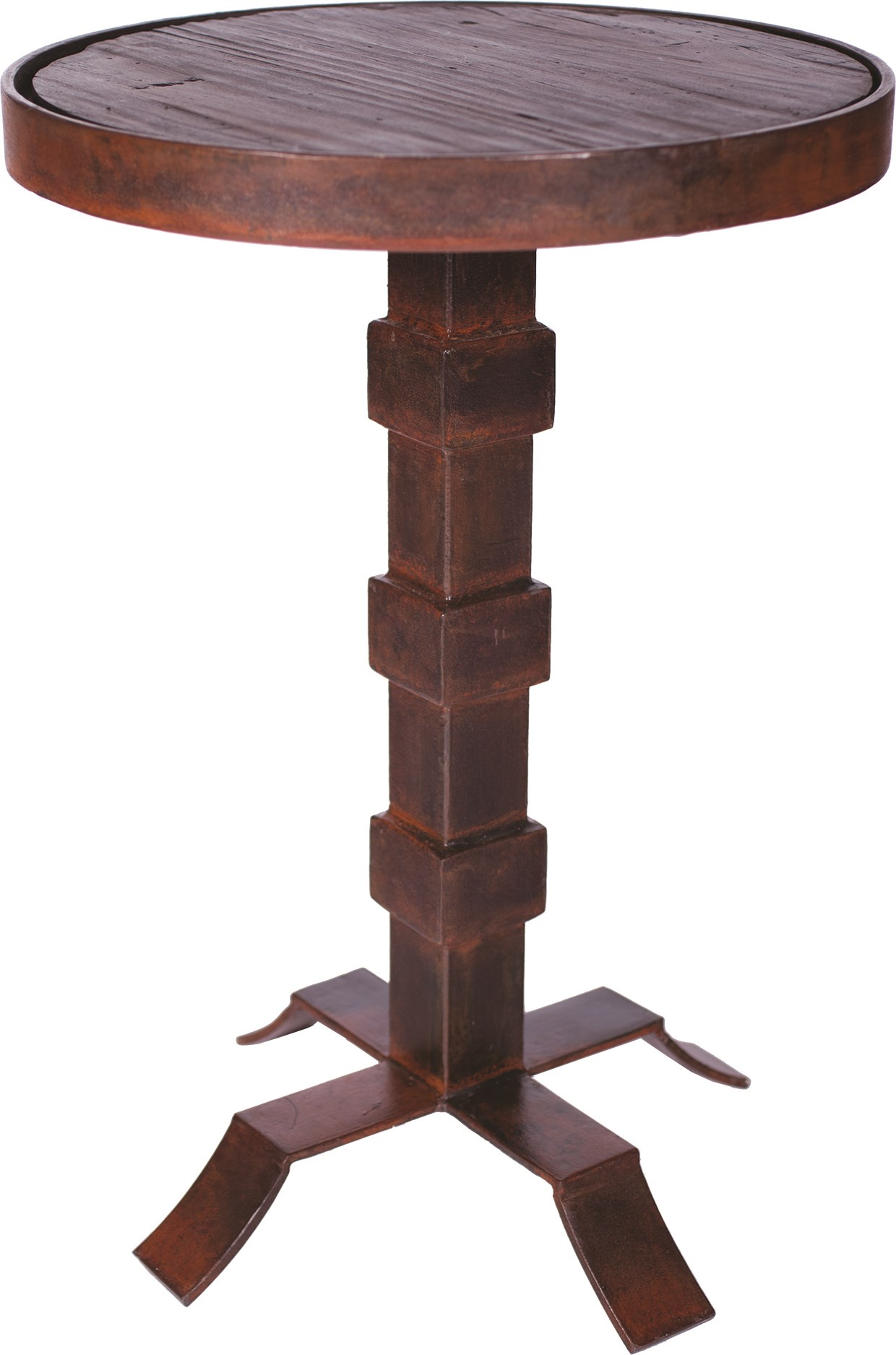 round iron accent table with wood top boulevard urban living set tables covers for outdoor knotty pine chairs pier rugs clearance counter height dining bench astoria patio