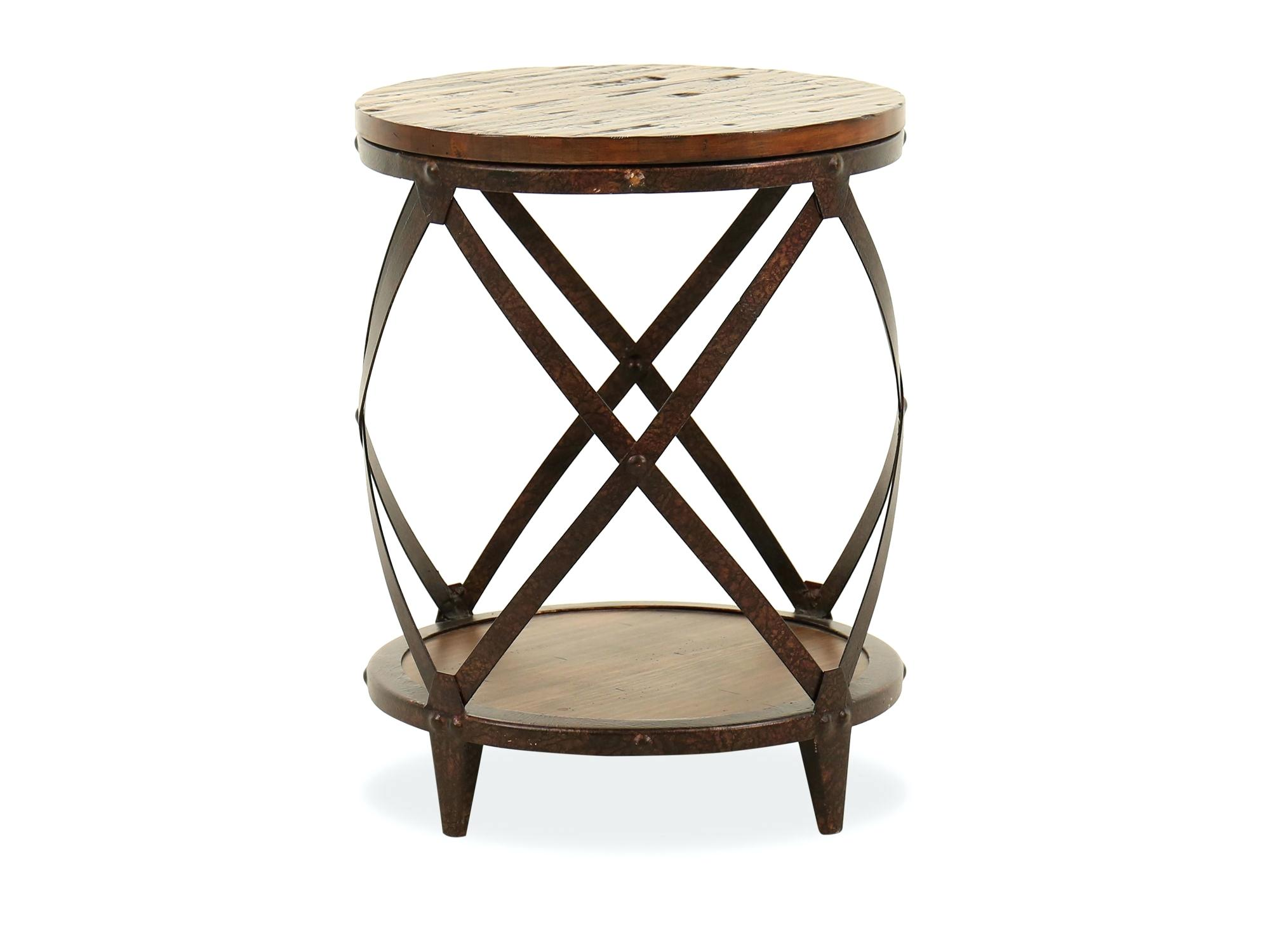 round iron accent table wrought tables for living room cobalt mosaic black outdoor ocean wave distressed transitional rich brown kitchen won tall full size dining placemats and
