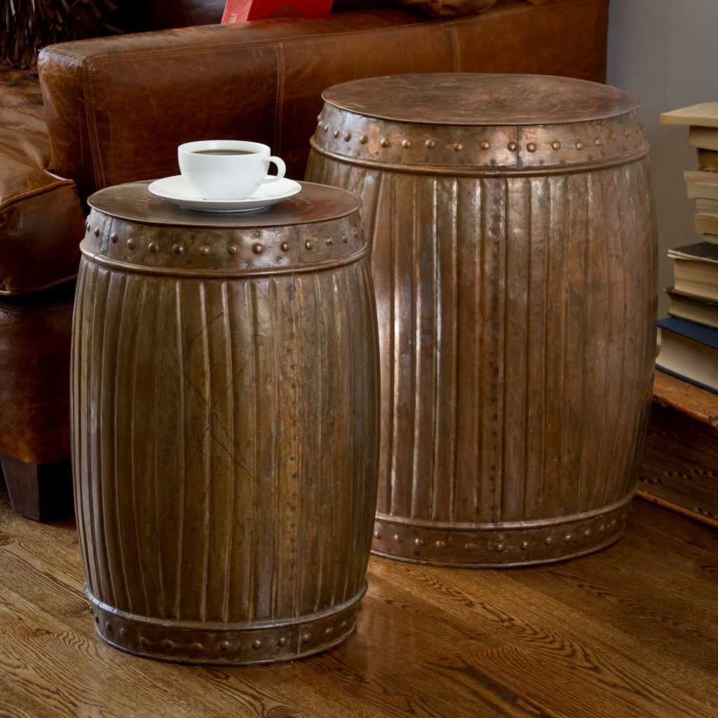 round living room furniture end tables lamp tures design features brown drum accents and frog accent table with barn door bedside toronto teak patio bronze side hobby lobby