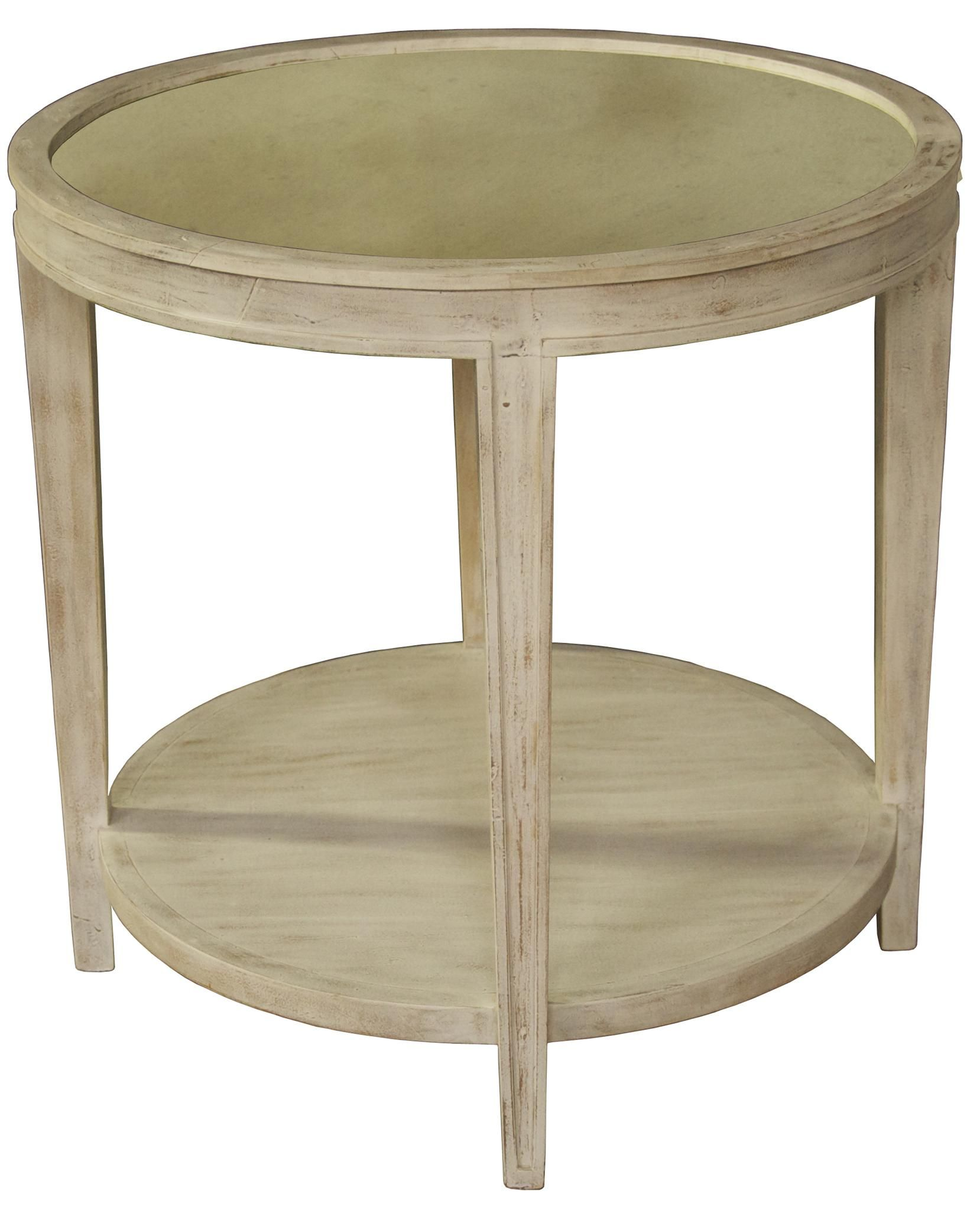 round mahogany antiqued white washed side table mecox gardens whitewash accent west elm armchair acrylic coffee wood glass end tables space saver oriental lamps small slim bedside