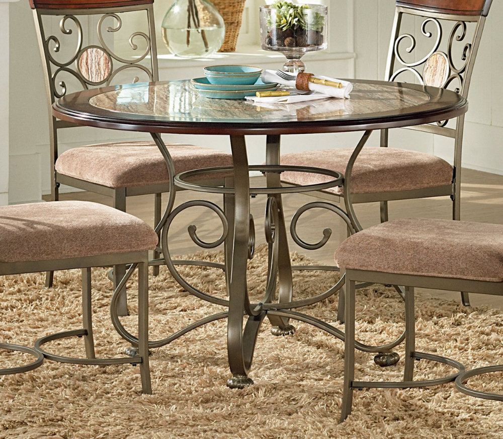 round marble dining table with plates home interior design the mawr metal accent winsome wood beechwood end espresso mini white coffee pottery barn slipcover sofa bunnings outdoor