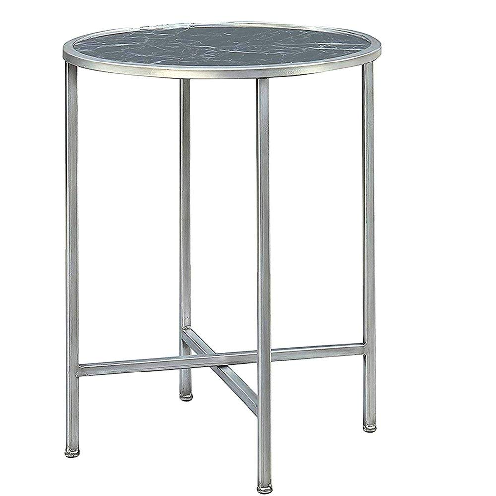 round marble side table find black accent get quotations end faux top silver metallic base sturdy tabletop solid wood coffee with storage penny lamps kids bedside narrow console
